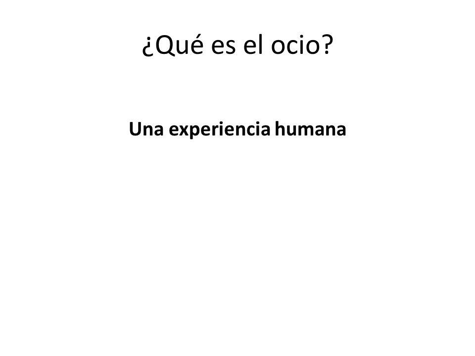 Una experiencia humana