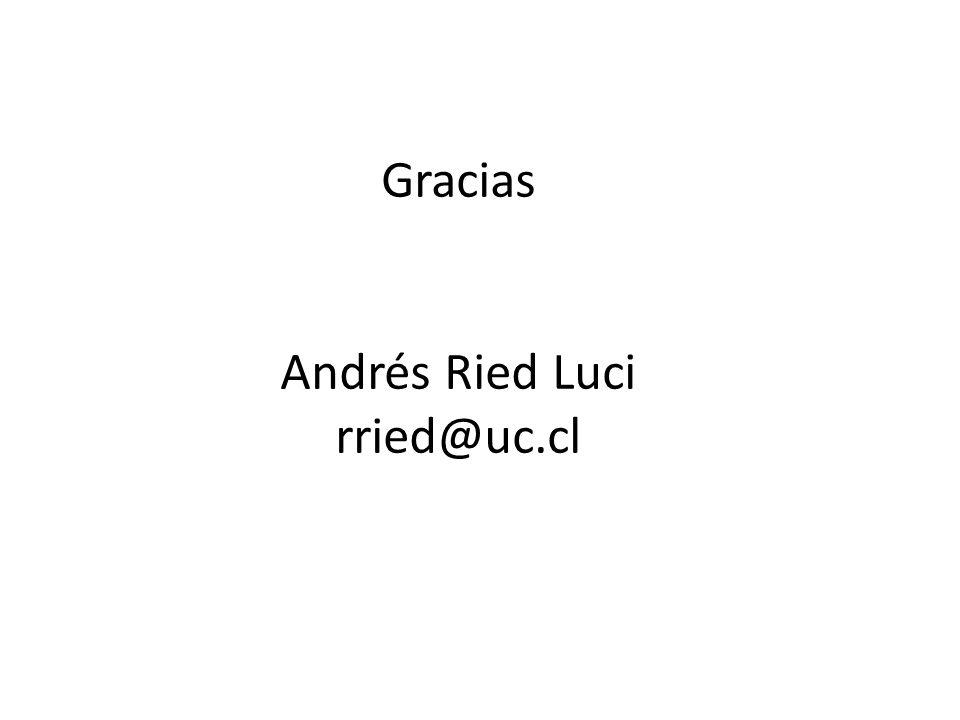Gracias Andrés Ried Luci rried@uc.cl
