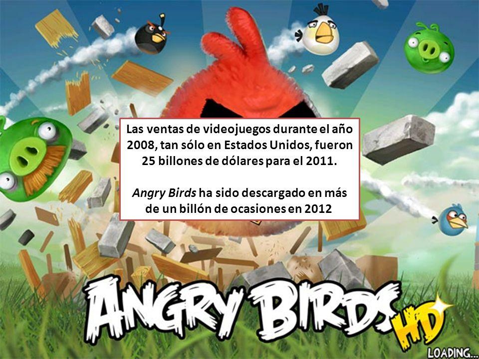 Las ventas de videojuegos durante el año 2008, tan sólo en Estados Unidos, fueron 25 billones de dólares para el 2011.