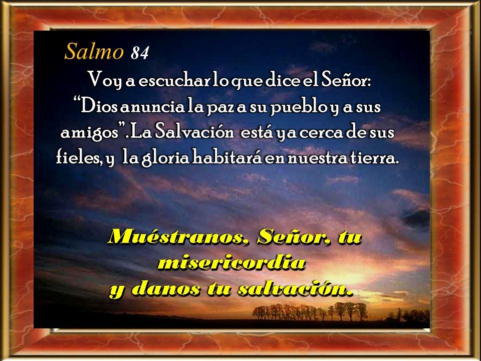 Muéstranos, Señor, tu misericordia y danos tu salvación.
