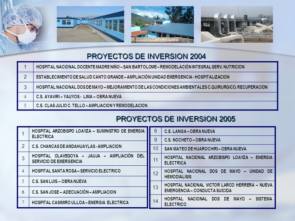 PROYECTOS DE INVERSION 2004