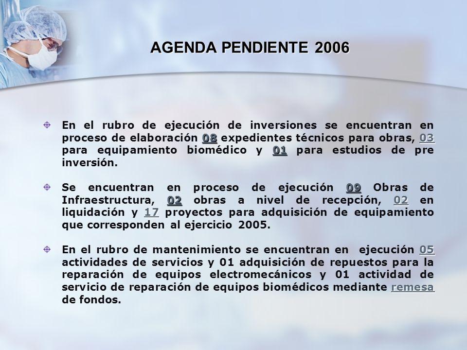 AGENDA PENDIENTE 2006