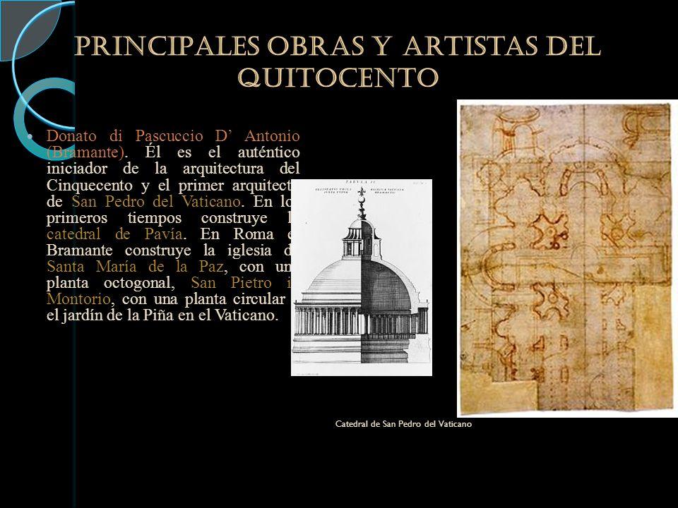 PRINCIPALES obras y artistas DEL QUITOCENTO