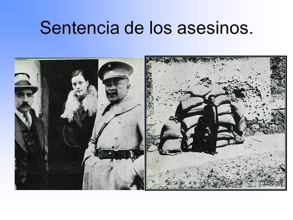 Sentencia de los asesinos.