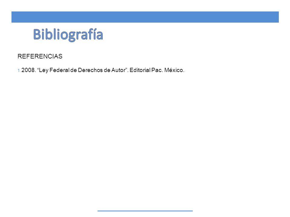 Bibliografía REFERENCIAS