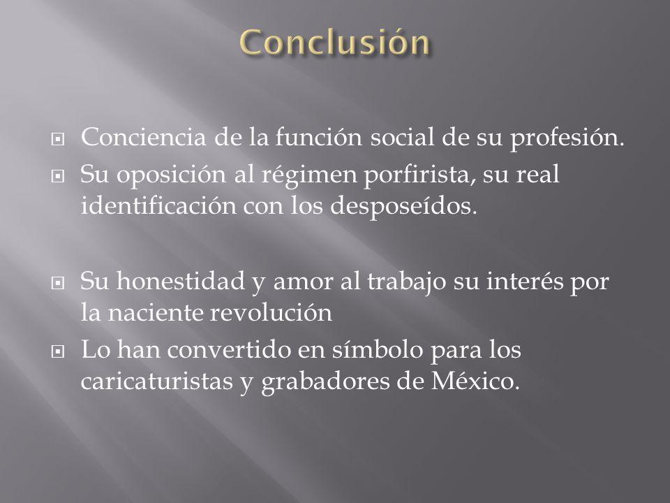 Conclusión Conciencia de la función social de su profesión.