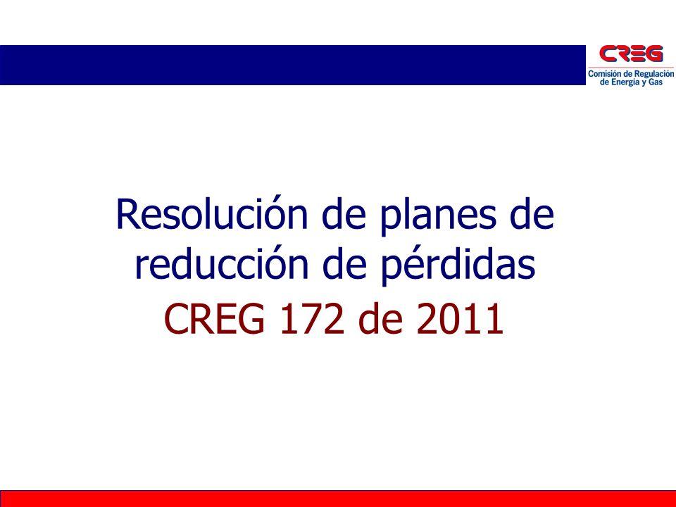 Resolución de planes de reducción de pérdidas