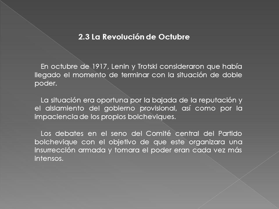 2.3 La Revolución de Octubre