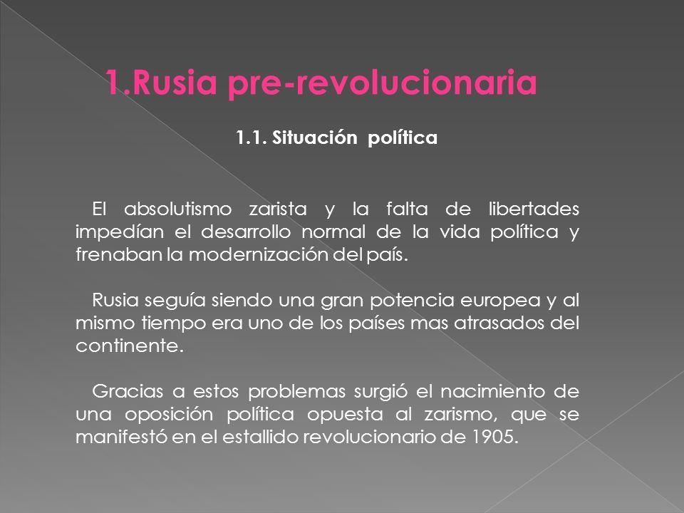 Rusia pre-revolucionaria