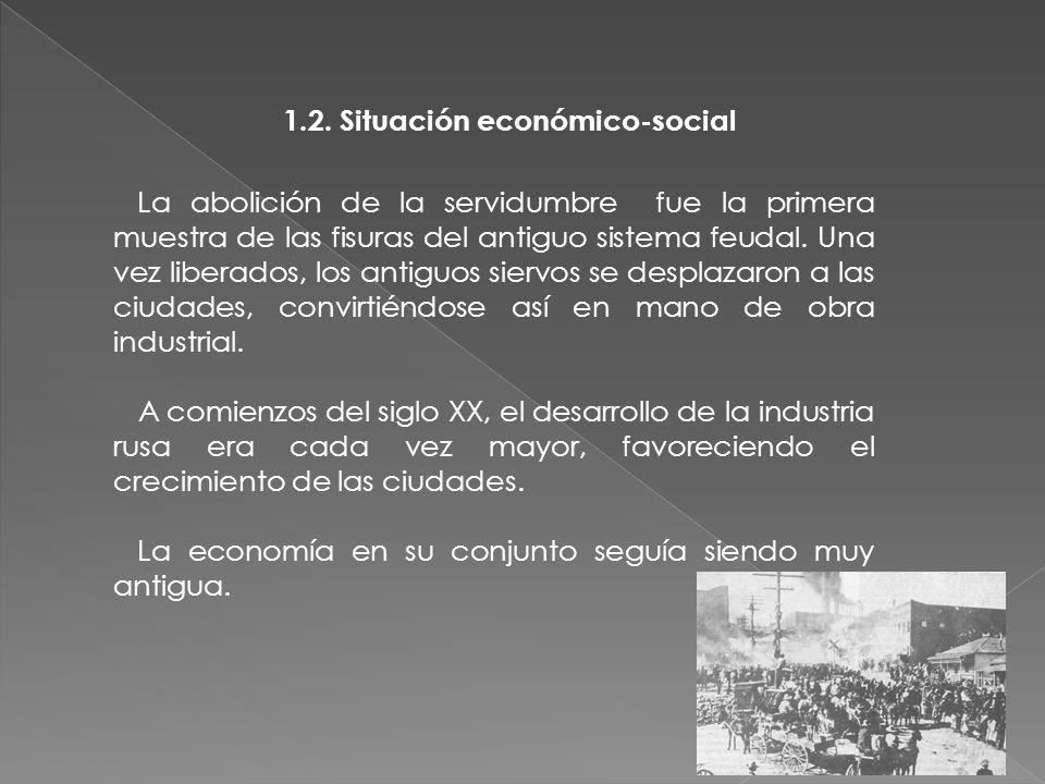 1.2. Situación económico-social