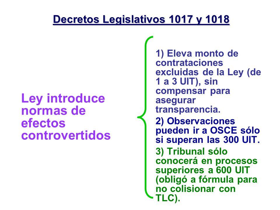 Decretos Legislativos 1017 y 1018
