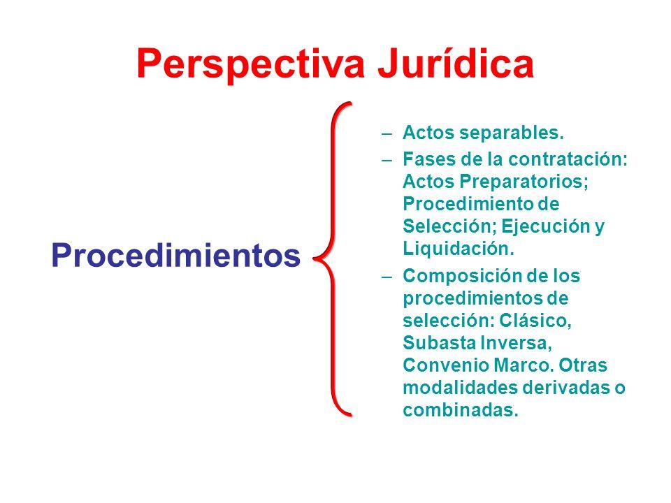 Perspectiva Jurídica Procedimientos Actos separables.