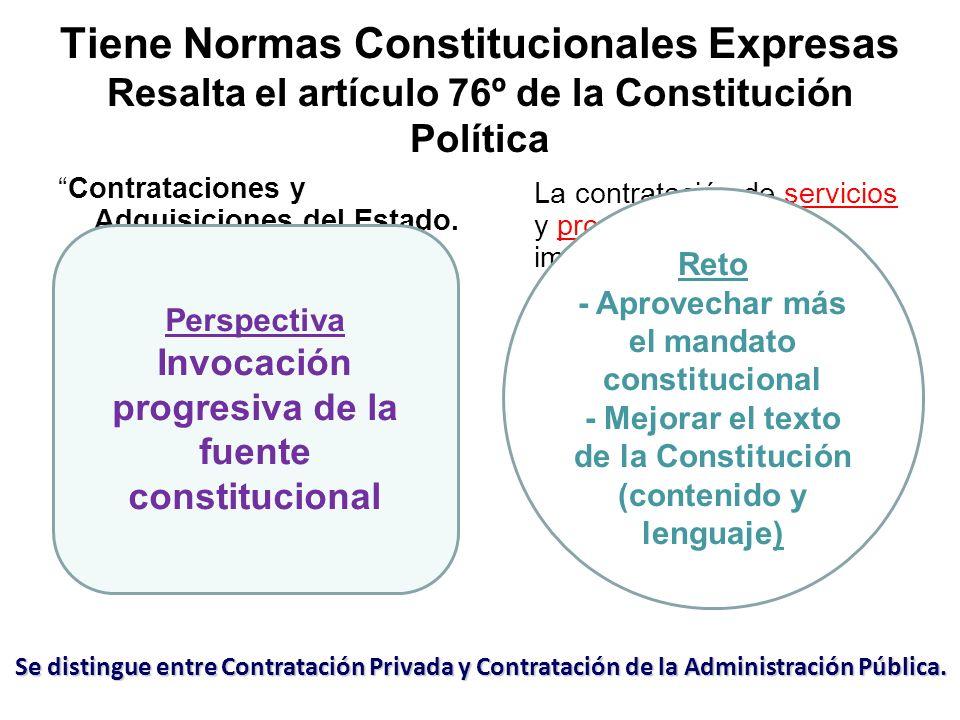 Tiene Normas Constitucionales Expresas Resalta el artículo 76º de la Constitución Política