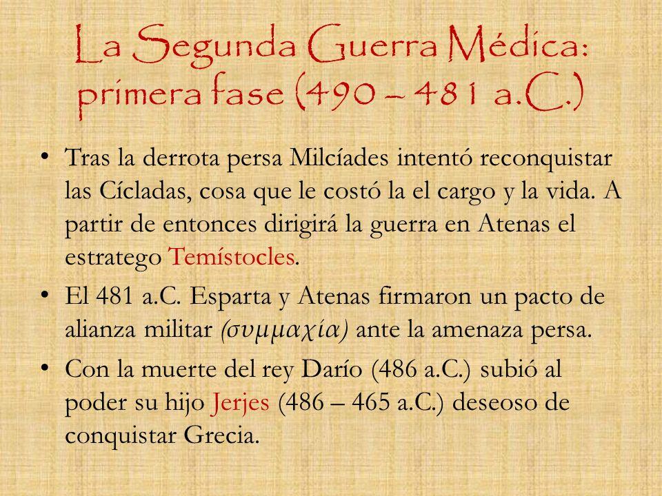 La Segunda Guerra Médica: primera fase (490 – 481 a.C.)