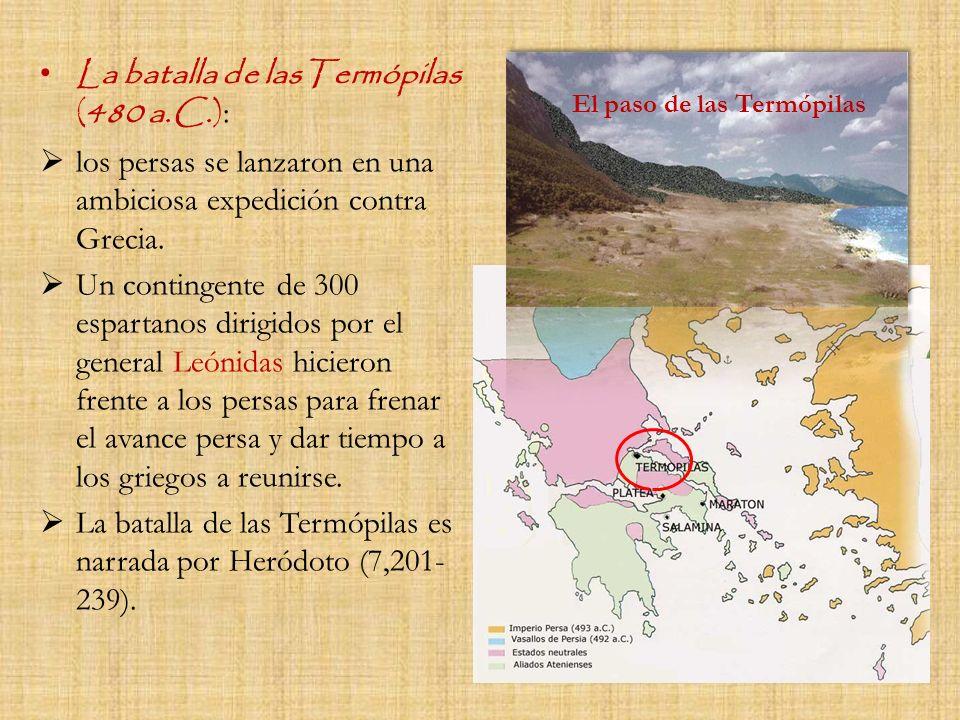 La batalla de lasTermópilas (480 a.C.):