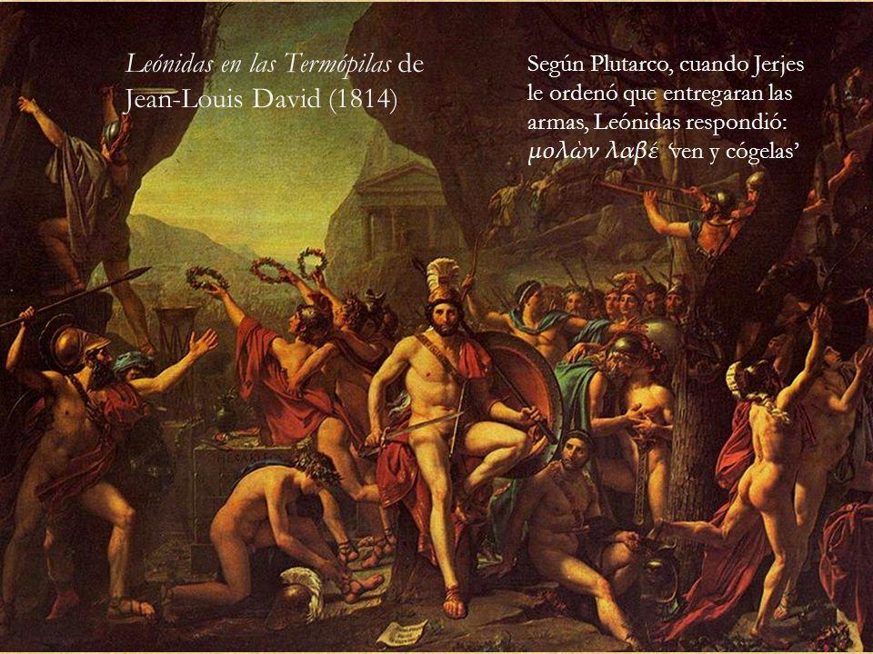 Leónidas en las Termópilas de Jean-Louis David (1814)