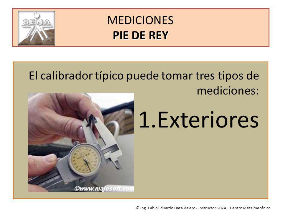 Exteriores MEDICIONES PIE DE REY