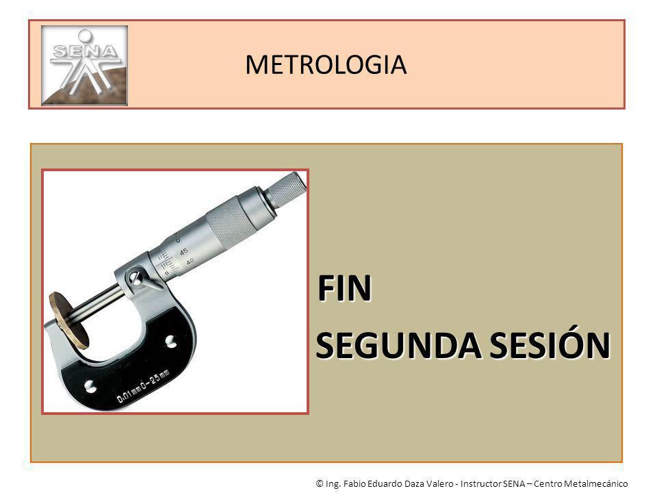 FIN SEGUNDA SESIÓN METROLOGIA