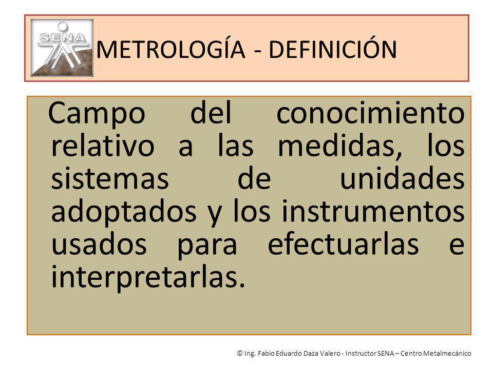 METROLOGÍA - DEFINICIÓN