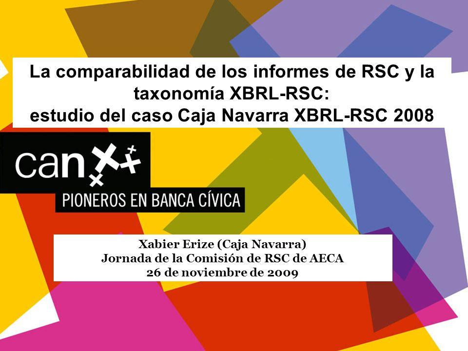 La comparabilidad de los informes de RSC y la taxonomía XBRL-RSC: