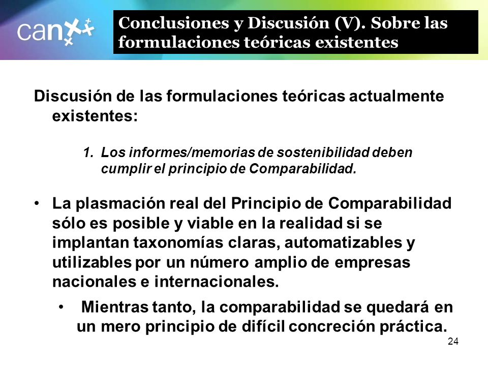 Discusión de las formulaciones teóricas actualmente existentes: