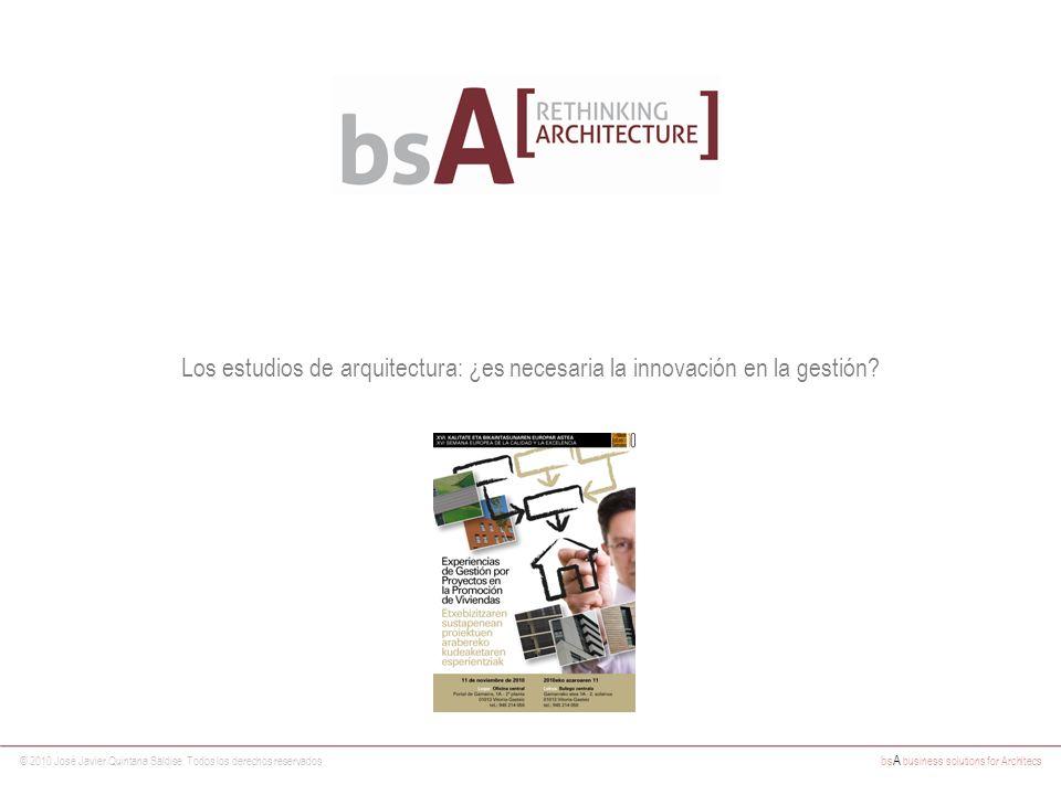 Los estudios de arquitectura: ¿es necesaria la innovación en la gestión