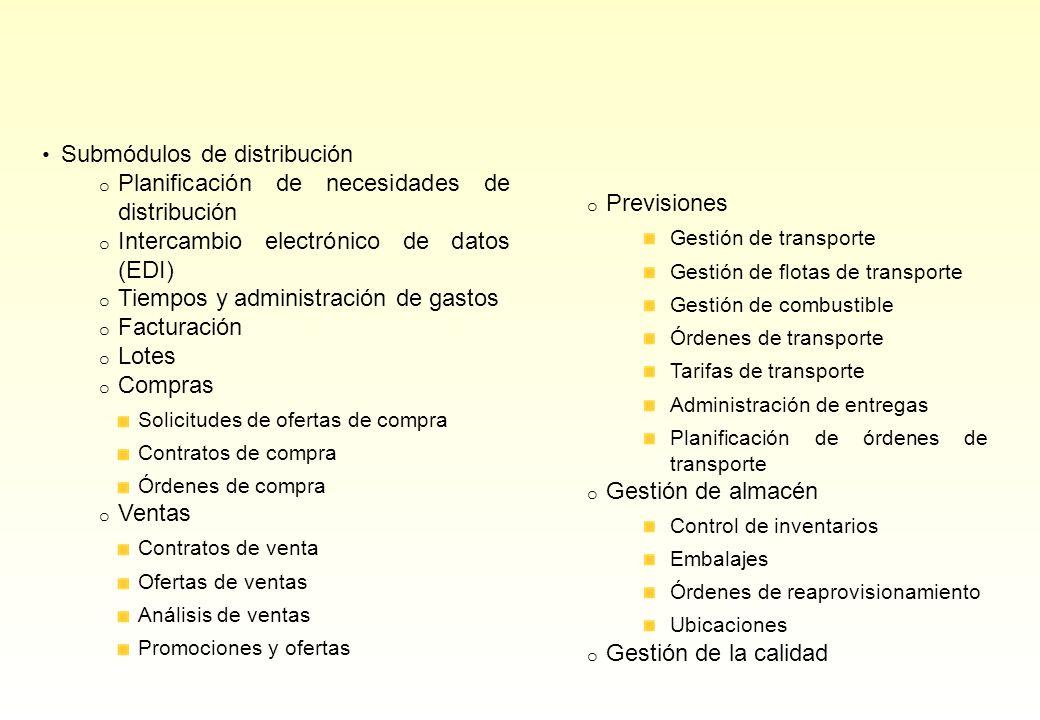 Submódulos de distribución