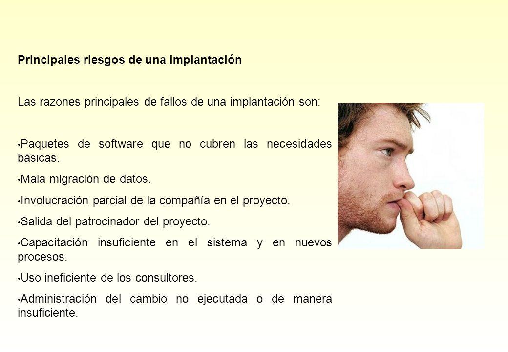 Principales riesgos de una implantación
