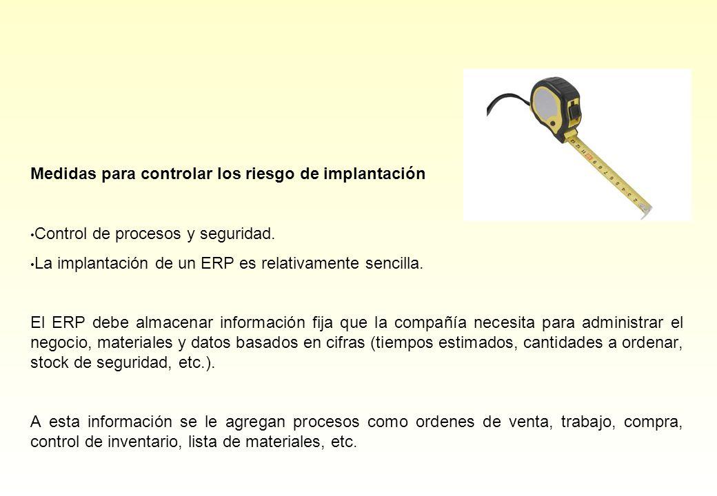 Medidas para controlar los riesgo de implantación