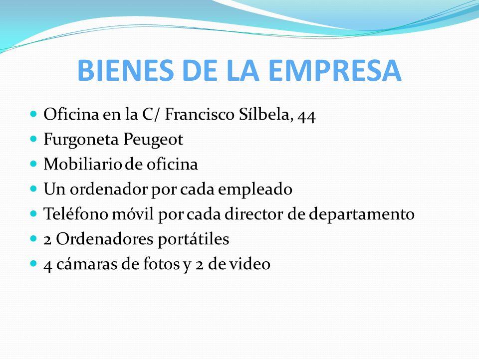 BIENES DE LA EMPRESA Oficina en la C/ Francisco Sílbela, 44
