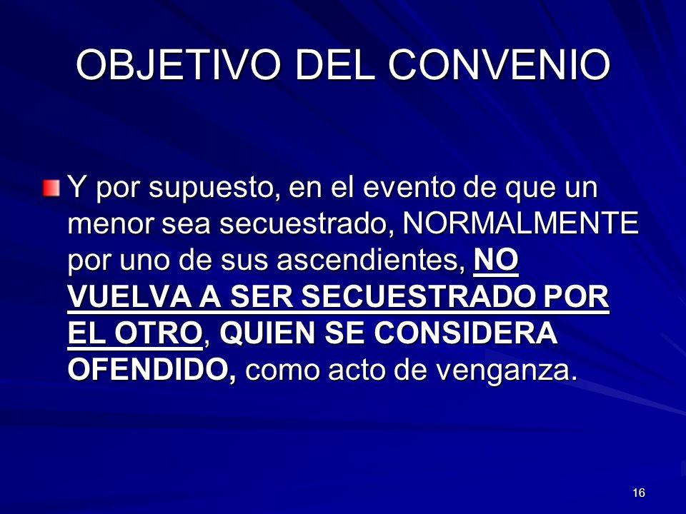 OBJETIVO DEL CONVENIO