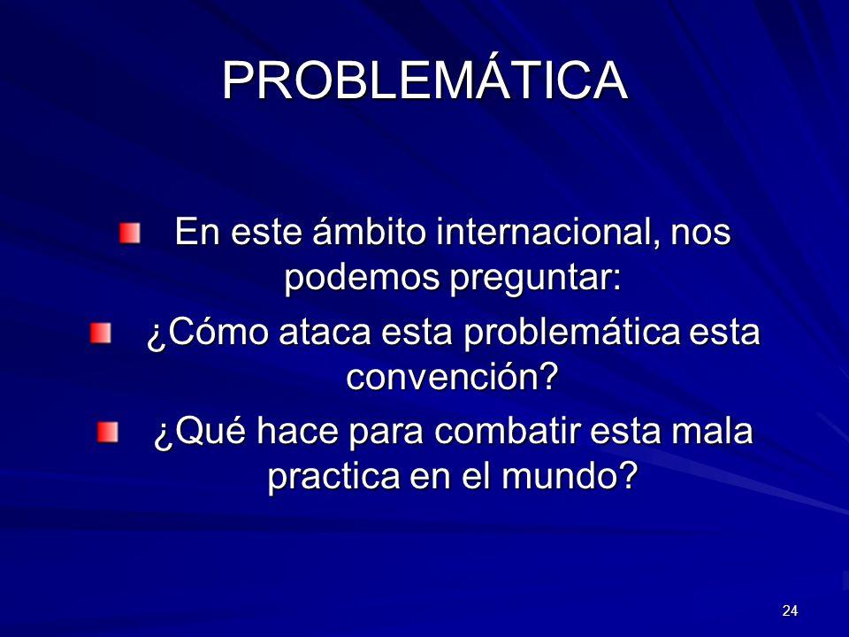 PROBLEMÁTICA En este ámbito internacional, nos podemos preguntar: