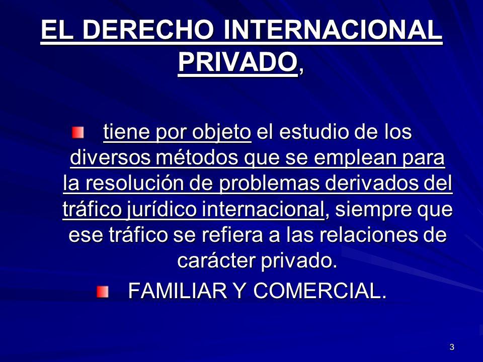 EL DERECHO INTERNACIONAL PRIVADO,