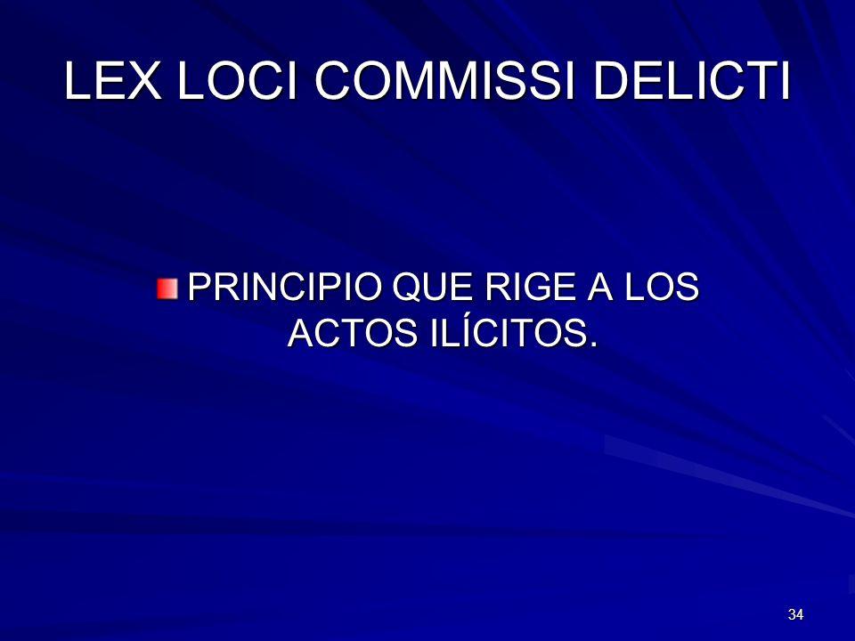 LEX LOCI COMMISSI DELICTI