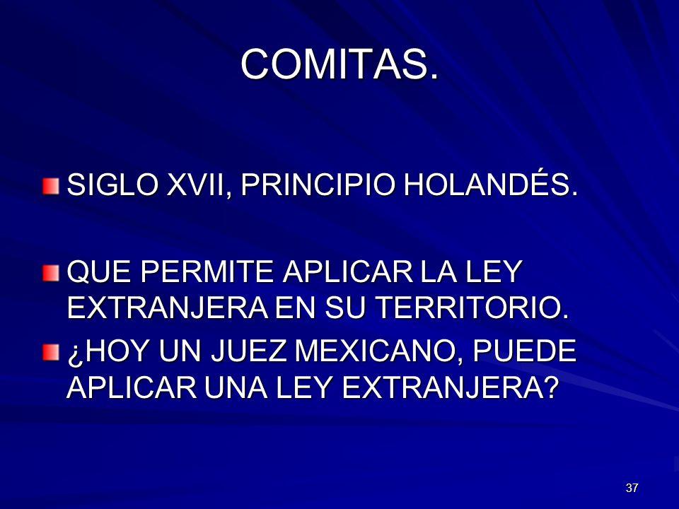 COMITAS. SIGLO XVII, PRINCIPIO HOLANDÉS.