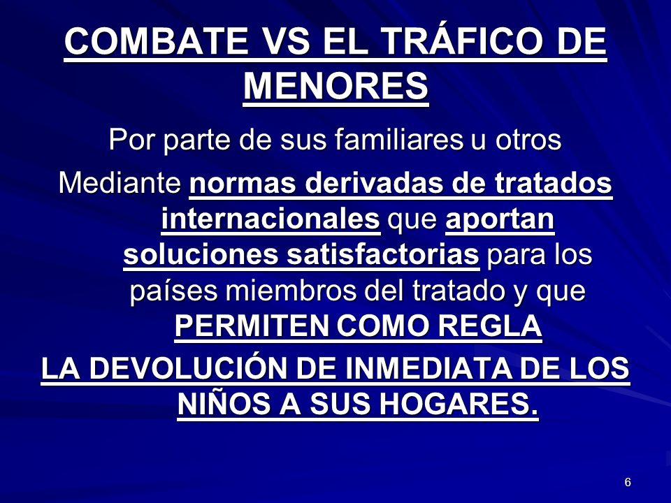 COMBATE VS EL TRÁFICO DE MENORES