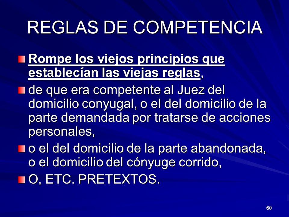 REGLAS DE COMPETENCIA Rompe los viejos principios que establecían las viejas reglas,