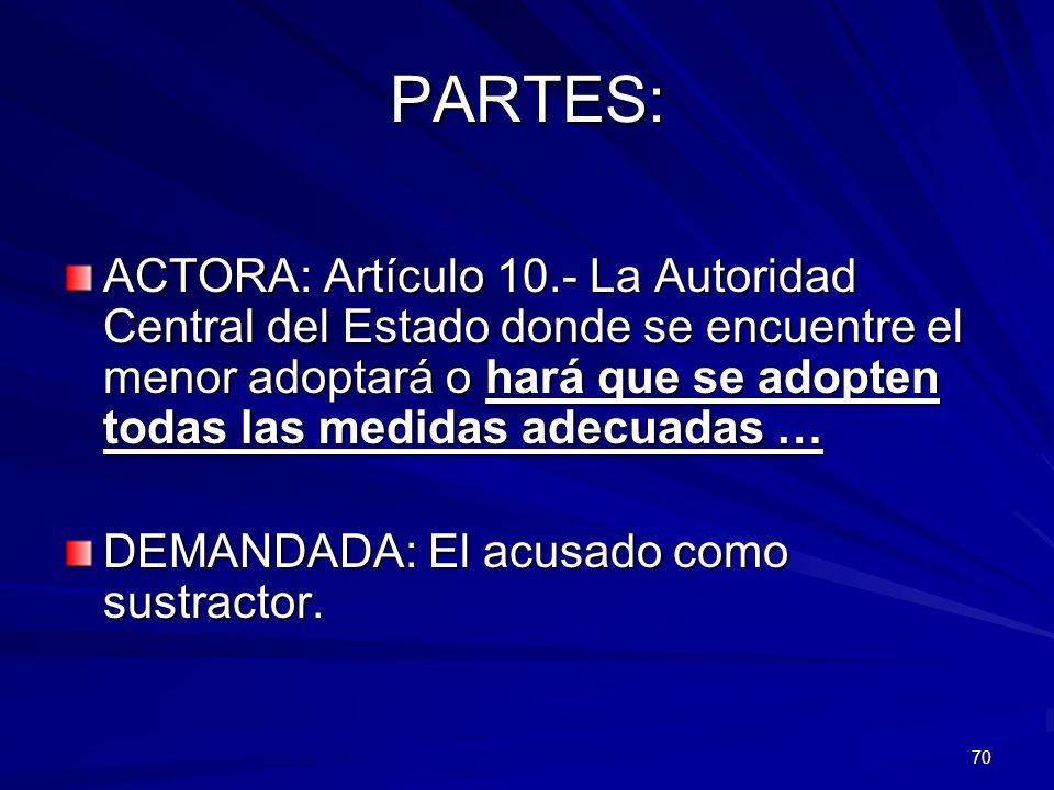 PARTES:
