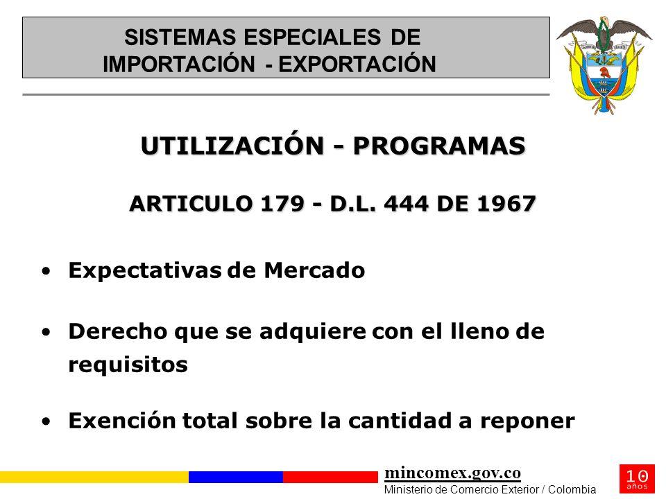 UTILIZACIÓN - PROGRAMAS