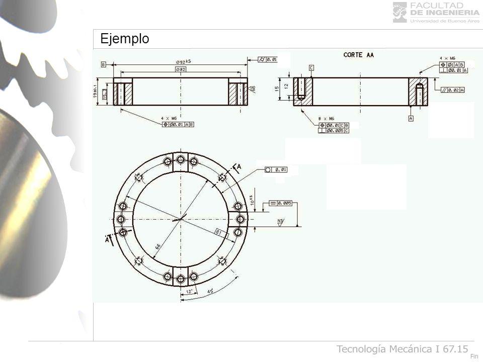 Ejemplo Tecnología Mecánica I 67.15 Fin