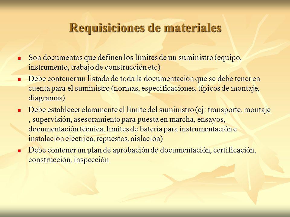 Requisiciones de materiales