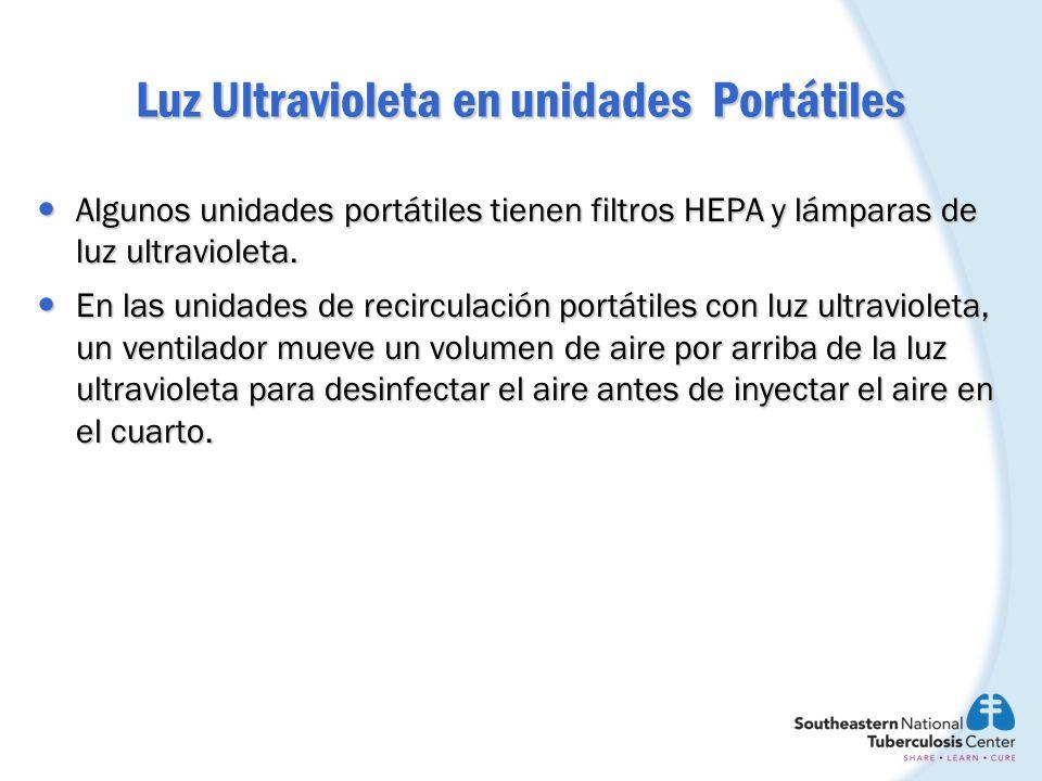 Luz Ultravioleta en unidades Portátiles
