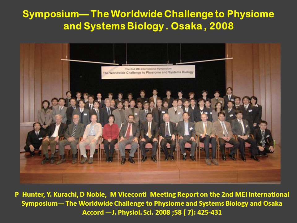 Symposium— The Worldwide Challenge to Physiome