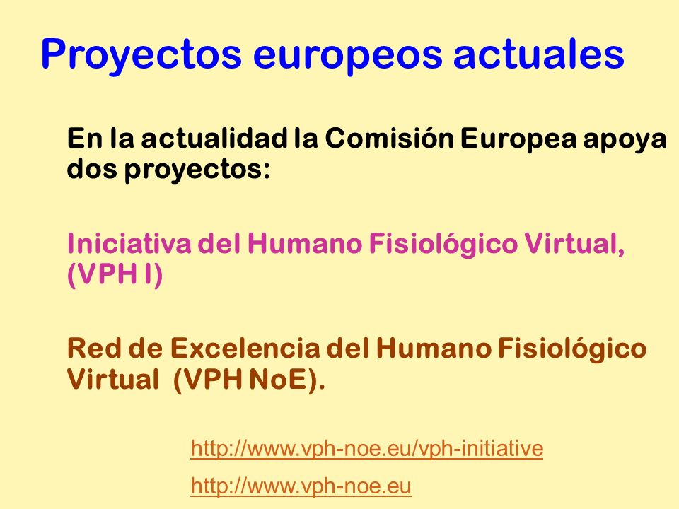 Proyectos europeos actuales