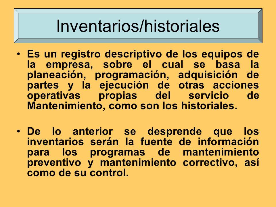 Inventarios/historiales