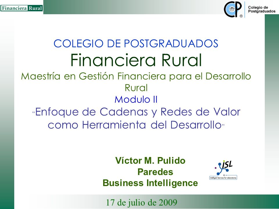 Víctor M. Pulido Paredes Business Intelligence