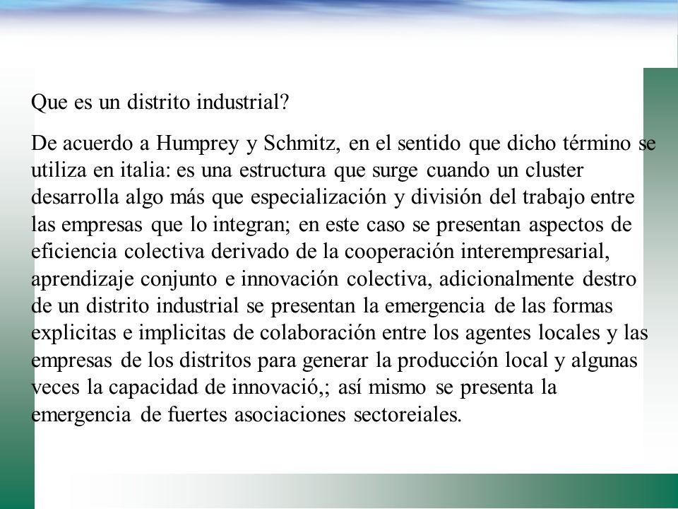Que es un distrito industrial