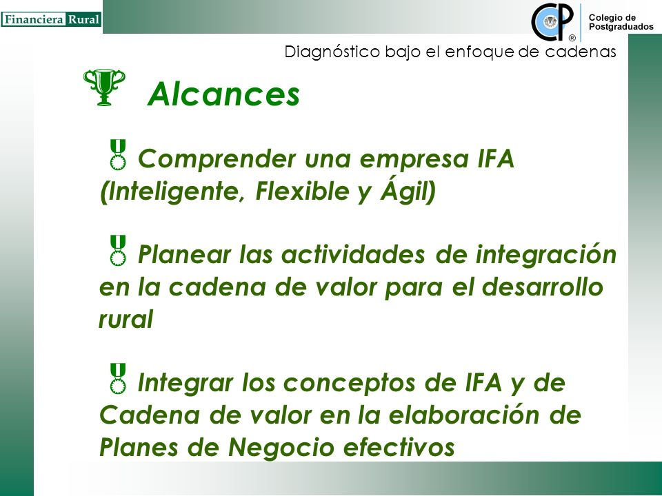 Alcances Comprender una empresa IFA (Inteligente, Flexible y Ágil)