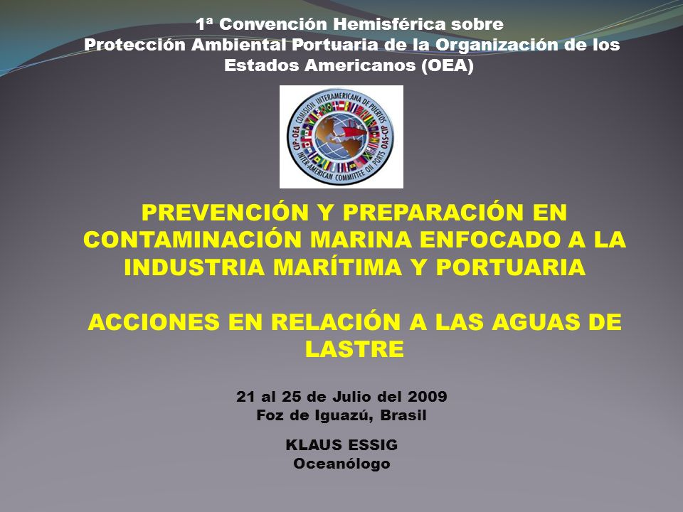 1ª Convención Hemisférica sobre