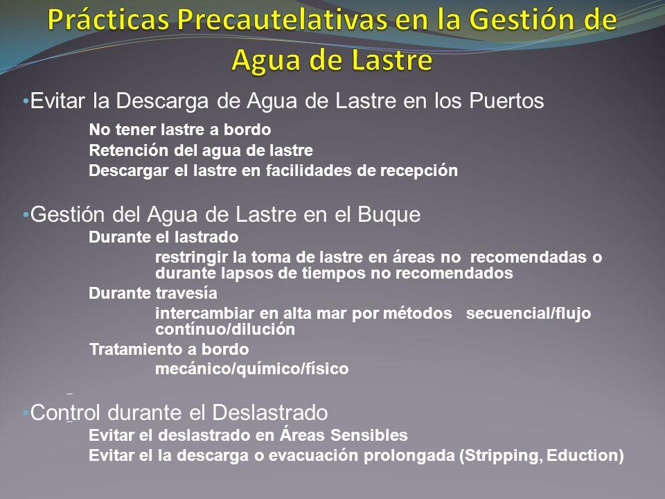Prácticas Precautelativas en la Gestión de Agua de Lastre